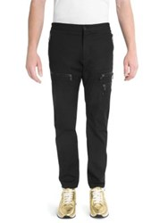 Versace Slim Zip Cargo Pants Black