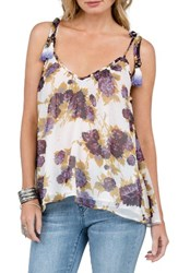 Volcom Women's Canyon Call Print Camisole White Vintage