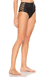 Mikoh Gold Coast High Waisted Bottom Black