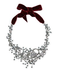 Lulu Frost Nina Crystal Collage Necklace Silver