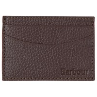 Barbour Grain Leather Card Holder Brown