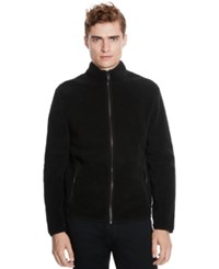 Kenneth Cole Reaction Zip Front Faux Sherpa Lined Jacket