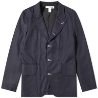 Comme Des Garcons Shirt Wool 3 Button Blazer Blue