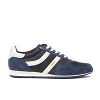 Boss Orange Men's Orland Runn Nylon Trainers Navy Blue