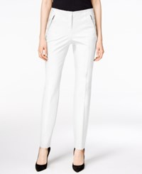 Alfani Zip Pocket Ankle Pants Only At Macy's Bright White