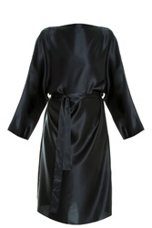 The Row Satin Tunic Black