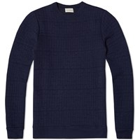 Oliver Spencer Lima Crew Knit Blue