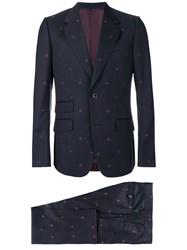 Gucci Heritage Bees Two Piece Suit Blue