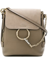 Chloe Faye Mini Backpack Nude And Neutrals