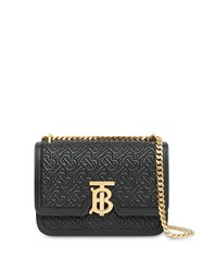 Burberry Small Quilted Monogram Lambskin Tb Bag Black
