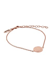 Harrods Rose Gold Plated Lucky Penny Bracelet
