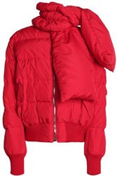 Magda Butrym Starling Quilted Shell Down Coat Red