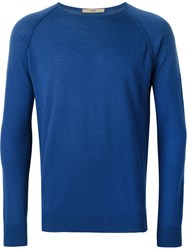 Nuur Raglan Sleeve Sweater Blue