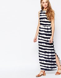 Sugarhill Boutique Nautical Stripe Maxi Dress Navy
