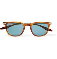 Barton Perreira Dean Square Frame Acetate And Gold Tone Sunglasses Brown