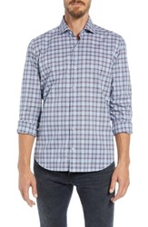 Culturata Supersoft Perfect Plaid Tailored Fit Sport Shirt Blue