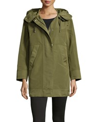 Moncler Pagel Hooded Anorak Jacket Olive Green