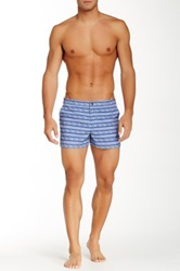 Parke And Ronen Printed Stripe Angeleno Short Blue