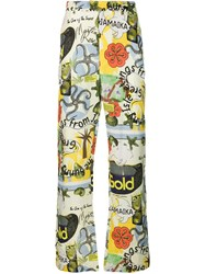 Martine Rose Graphic Print Trousers Green