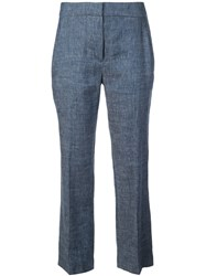 Elie Tahari Tailored Cropped Trousers Blue