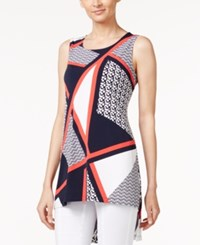 Alfani Printed High Low Tunic Top Only At Macy's Chic Colorblock