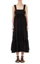 Chloe Women's Tie Back Sleeveless Long Dress Black