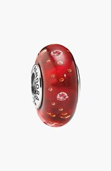 Pandora Design Women's Pandora 'Effervescence' Murano Glass Charm Sterling Silver Red