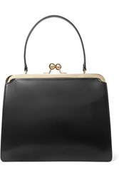 Simone Rocha Frame Leather Tote Black