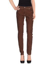 Care Label Trousers Casual Trousers Women Brown