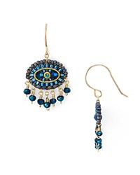 Miguel Ases Beaded Drop Earrings Green