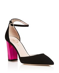 Kate Spade New York Pax Color Block Heel Ankle Strap Pumps Black