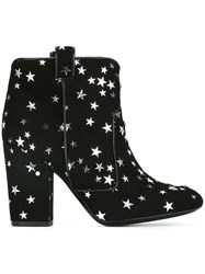 Laurence Dacade 'Pete' Star Print Boots Black