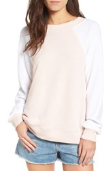 Wildfox Couture Women's Destroyed Sommers Sweatshirt Pink Gloss Clean White