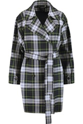 Mcq By Alexander Mcqueen Tartan Cotton Blend Twill Trench Coat