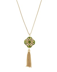 Fragments For Neiman Marcus Fragments Marbled Resin Pendant Necklace Green