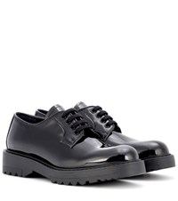 Prada Derby Patent Leather Shoes Black