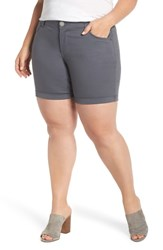 Wit And Wisdom Plus Size Ab Solution Stretch Cotton Shorts Shadow