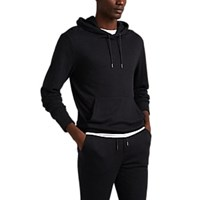 Ralph Lauren Purple Label Herringbone Jersey Hoodie Gray