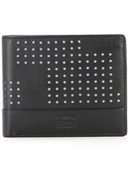 Cerruti 1881 Punch Hole Detailed Bifold Wallet Black