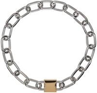 Alexander Wang Silver And Gold Double Lock Necklace