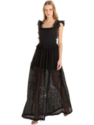Cc By Camilla Cappelli Embroidered Cotton Eyelet Lace Dress