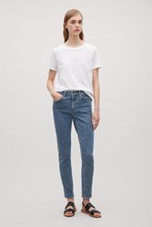Cos Skinny Fit Cropped Jeans Fresh Blue