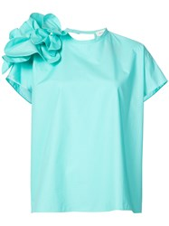 Delpozo Petals Detail Blouse Blue