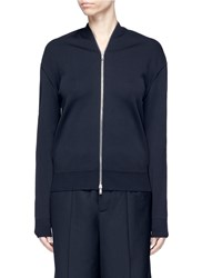 Ms Min Zip Double Faced Cardigan Blue