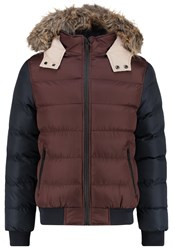 Your Turn Winter Jacket Bordeaux Dark Blue