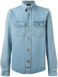 Les Artists Art Ists 'Love' Denim Shirt Blue