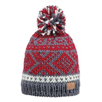 Barts Log Cabin Beanie Hat One Size Red