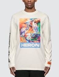 Heron Preston Birds Long Sleeve T Shirt White