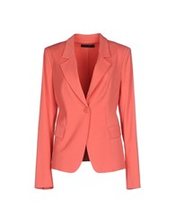 Twin Set Simona Barbieri Suits And Jackets Blazers Women Coral