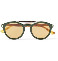 Gucci Round Frame Acetate Sunglasses Green